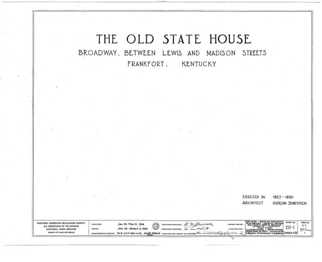 Old State House, Broadway, bounded by Madison, Clinton & Lewis Streets, Frankfort, Franklin County, KY