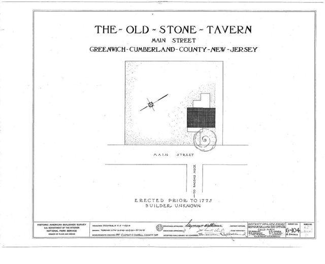 Old Stone Tavern, Main Street, Greenwich, Cumberland County, NJ