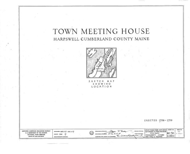 Old Town & Meeting House, State Route 123, South Harpswell, Cumberland County, ME
