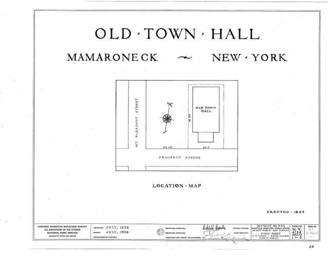 Old Town Hall, Prospect Avenue, Mamaroneck, Westchester County, NY