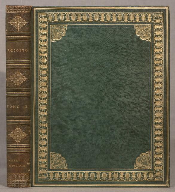 Orlando furioso, di Lodovico Ariosto...Birmingham, Da'torchj di G. Baskerville, per P. Molini e G. Molini, 1773