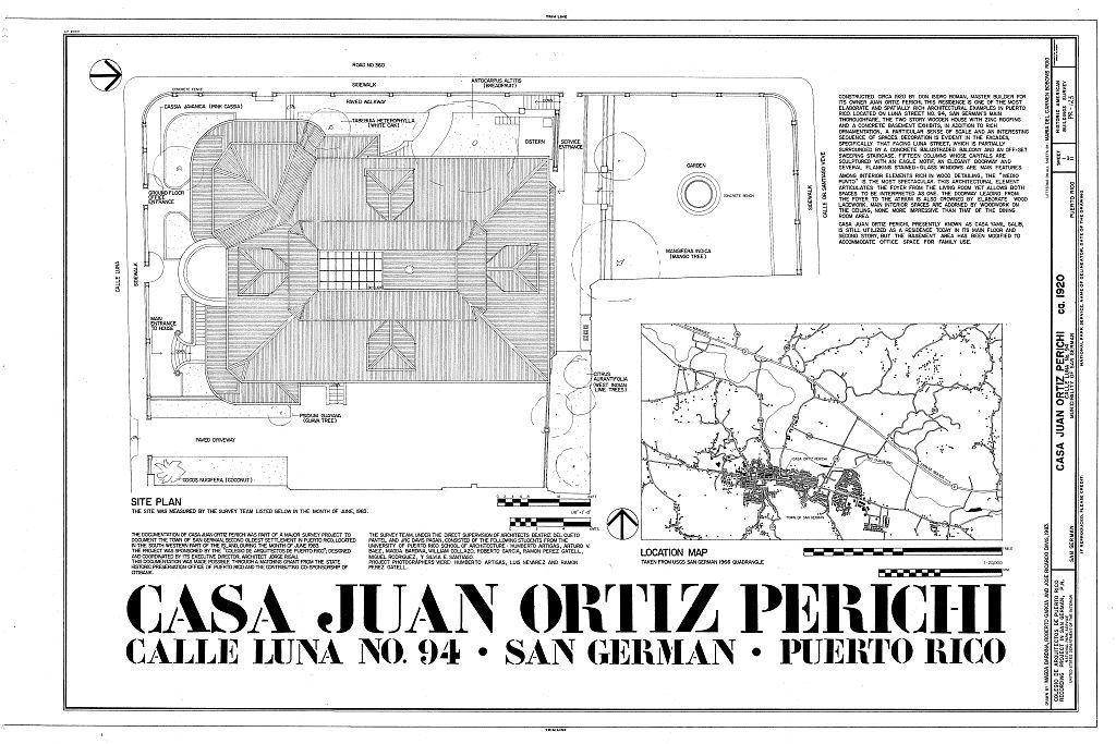 Ortiz Perichi, Juan, Casa, Calle Luna No. 94, San German, San German Municipio, PR