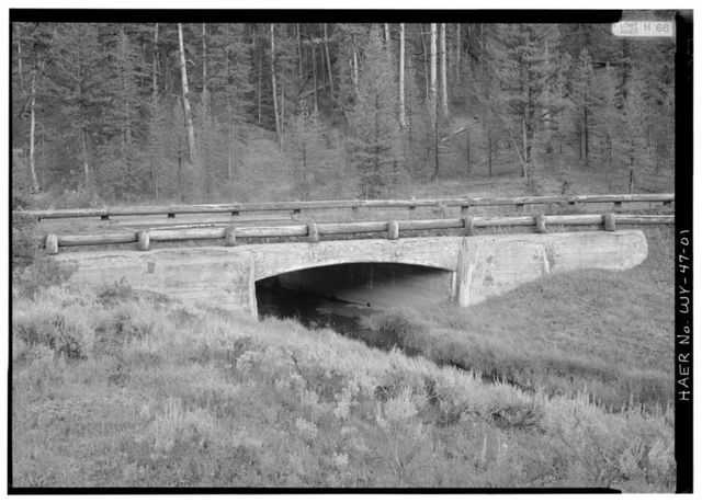 Otter Creek Bridge No. 2, Spanning Otter Creek at spur of Grand Loop Road, Lake, Teton County, WY