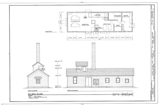 Outer Island Light Station, Fog Signal Building, La Pointe, Ashland County, WI