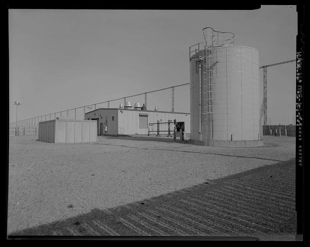 Over-the-Horizon Backscatter Radar Network, Columbia Falls Radar Site Receive Sector Three Water Storage Tank, At the end of Shadagee Ridge Road, Columbia Falls, Washington County, ME