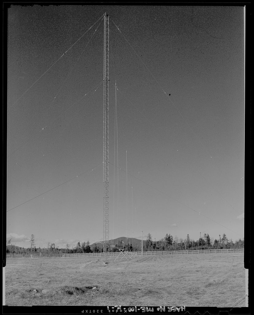 Over-the-Horizon Backscatter Radar Network, Moscow Radar Site Transmit Sector Two Sounder Antennas, At the end of Steam Road, Moscow, Somerset County, ME