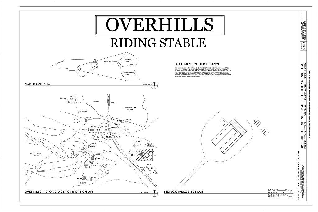 Overhills, Riding Stable, West of Nursery Road & North of Thurman Road, Overhills, Harnett County, NC