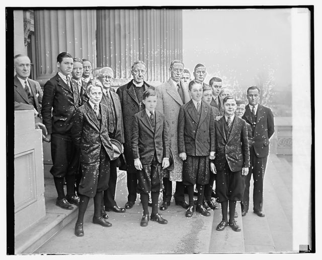 Page Boys, Boy Scout troop, Sen. Cousins, Dr. Z. Barney Phillips, Sen. Pane Brock, Ga., 12/12/29
