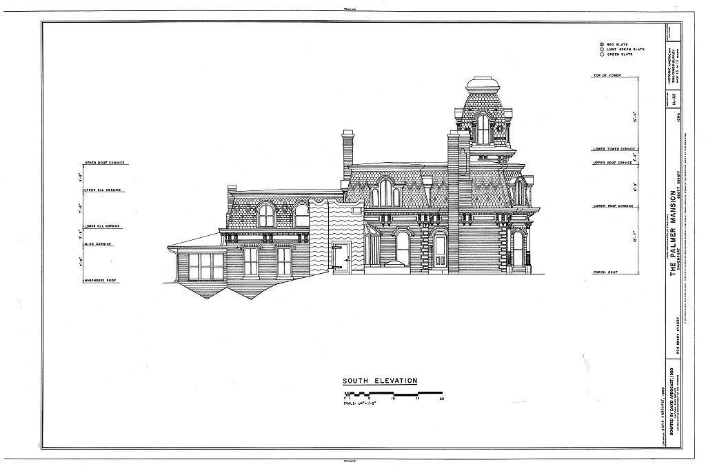 Palmer Mansion, 808 Brady Street, Davenport, Scott County, IA