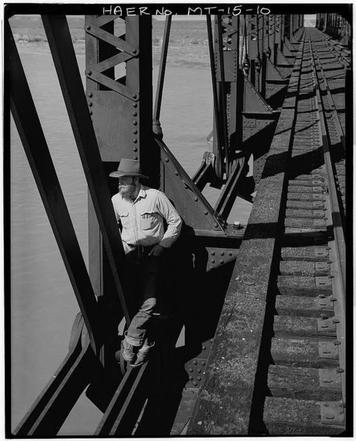 Paragon Bridge, Spanning Yellowstone River, Miles City, Custer County, MT