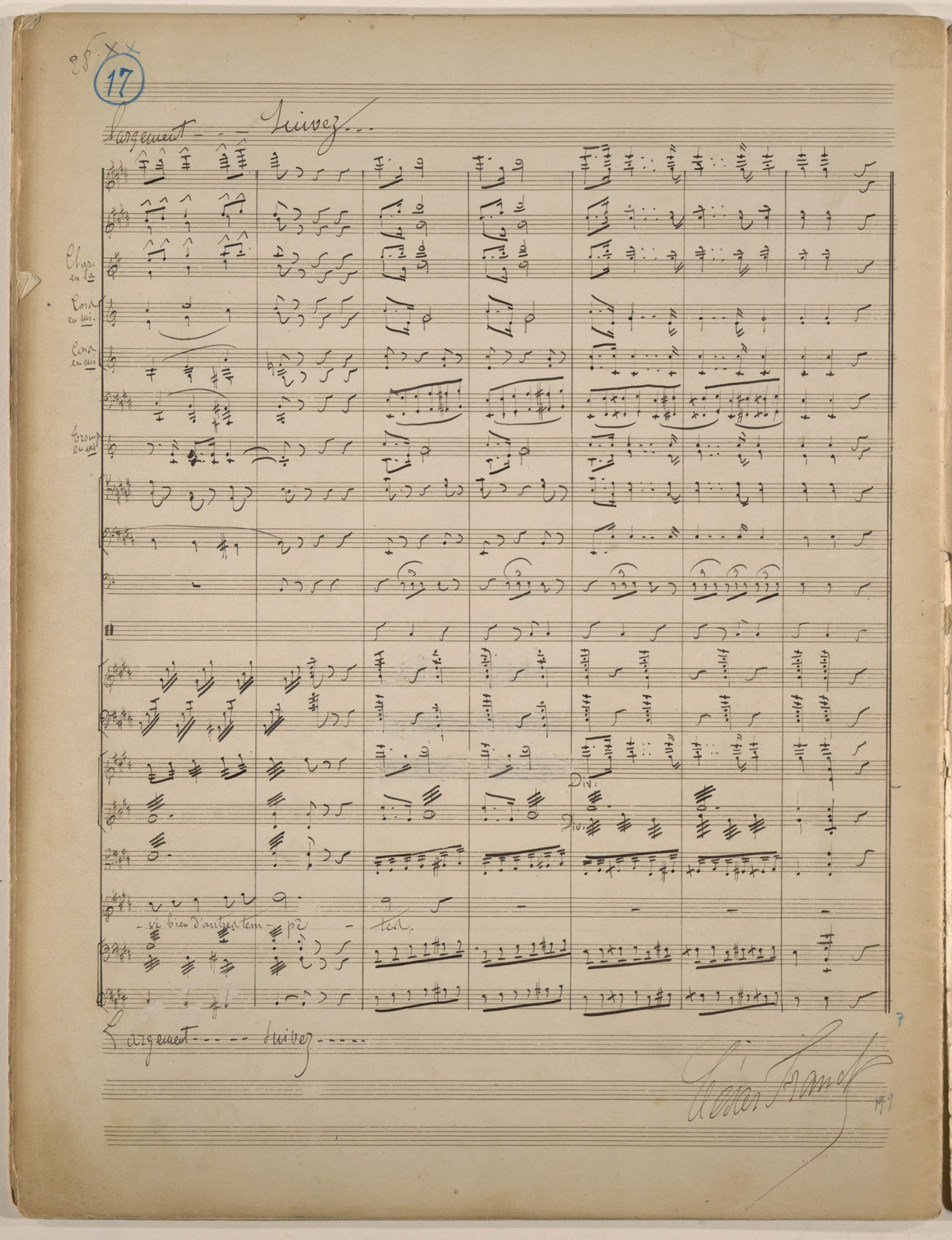 Paris, patriotic ode, for tenor and orchestra