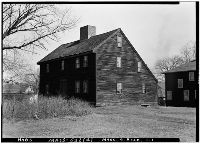 Parker Tavern, Washington Street, Reading, Middlesex County, MA