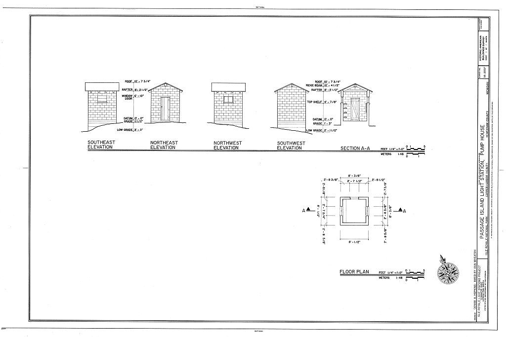 passage island light station, pump house, copper harbor, keweenaw county, mi