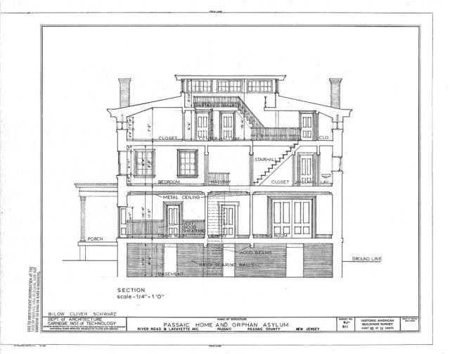 Passaic Home & Orphan Asylum, River Road & Lafayette Avenue, Passaic, Passaic County, NJ