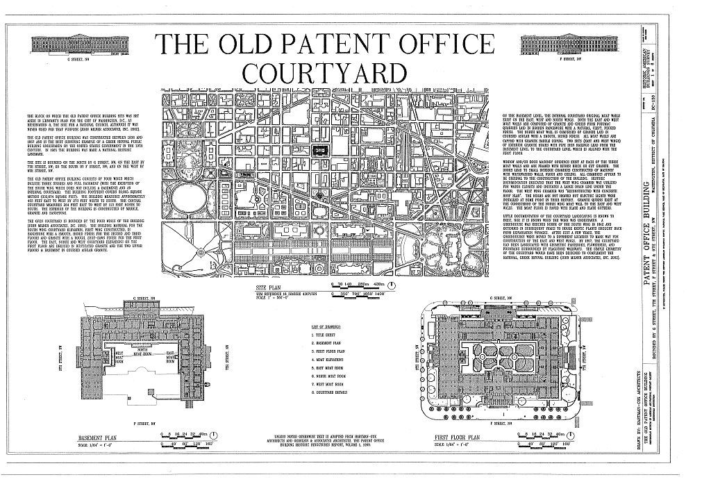 Patent Office Building, Bounded by Seventh, Ninth, F & G Streets, Northwest, Washington, District of Columbia, DC