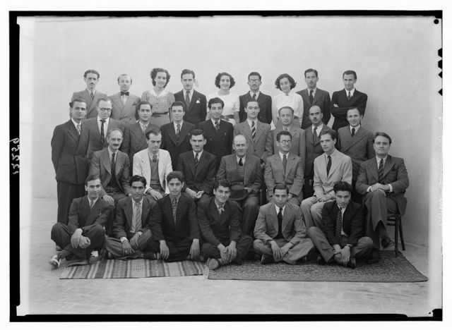 P.B.S. and P.J[?].O. groups, Mr. Tweedy's farewell groups. Large group at P.J[?].O. taken on roof, Sept. 26 '41