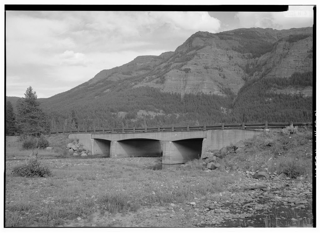 Pebble Creek Bridge, Spanning Pebble Creek at Northeast Entrance Road, Lake, Teton County, WY