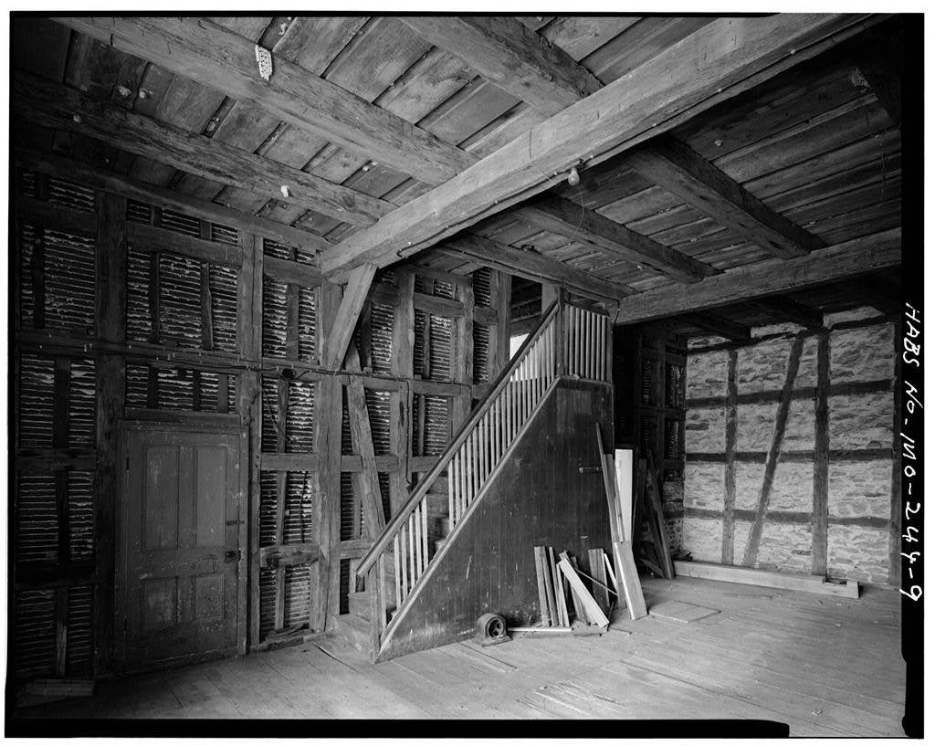 Pelster House-Barn, Cedar Fork Road, Detmold, Franklin County, MO