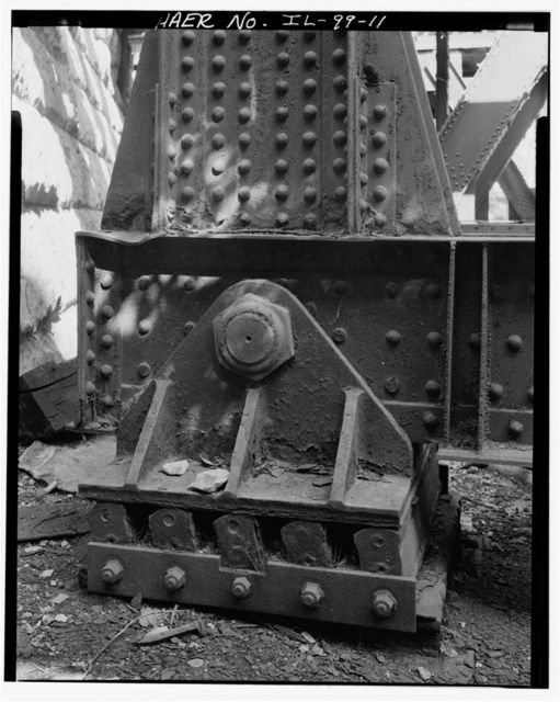 """Pennsylvania Railroad, """"Eight-track"""" Bascule Bridge, Spanning Sanitary & Ship Canal, west of Western Avenue, Chicago, Cook County, IL"""