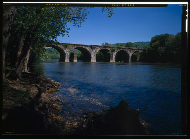 Pennsylvania Railroad, Granville Bridge, Spanning Juniata River, 1.25 miles west of Lewistown, Lewistown, Mifflin County, PA