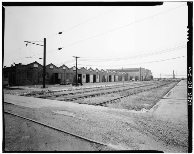 Pennsylvania Railroad Improvements, Repair Shop, Vandever & Bowers Streets, Wilmington, New Castle County, DE