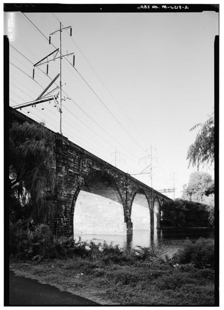 Pennsylvania Railroad, Mantua Junction Viaduct, Spanning the Schuylkill River north of Girard Avenue Bridge, Philadelphia, Philadelphia County, PA