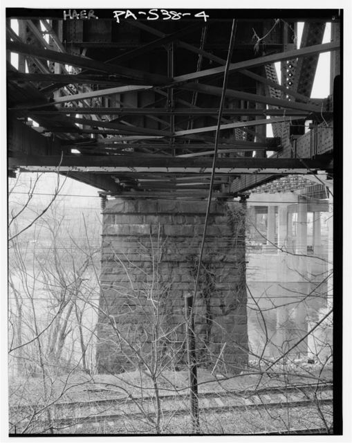 Pennsylvania Railroad, Trenton Cut-Off, Bridge No. 25 at Earnest, Spanning Schulykill River, south of Pennsylvania Turnpike (I-276), Swedesburg, Montgomery County, PA