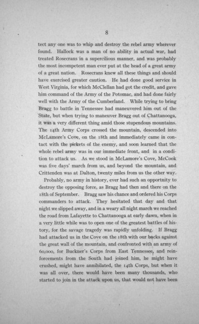 Personal recollections of the Chickamauga campaign ..