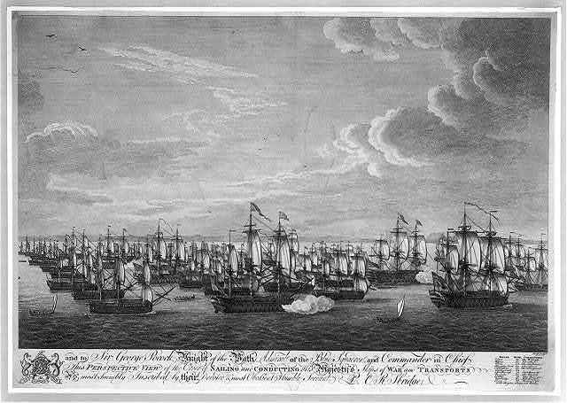 Perspective view of the order of sailing and conducting his majesty's ships of war and transports...
