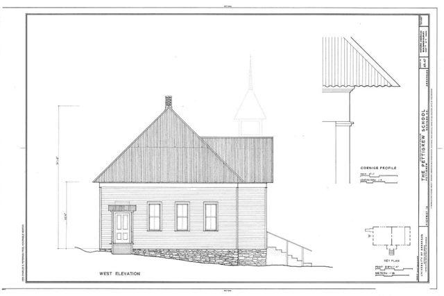 Pettigrew School, Across White River from Highway 16, Pettigrew, Madison County, AR