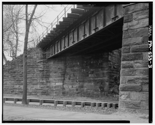 Philadelphia & Reading Railroad, Bridge at West Falls, Spanning Schuylkill River, southeast of Roosevelt Boulevard Bridge, Philadelphia, Philadelphia County, PA