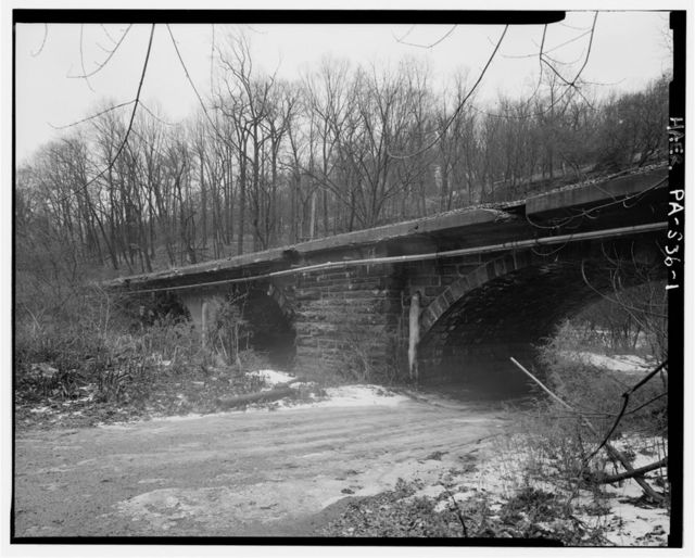 Philadelphia & Reading Railroad, Mill Creek Bridge, Spanning Mill Creek, east of Schuylkill Expressway (I-76), Gladwyne, Montgomery County, PA