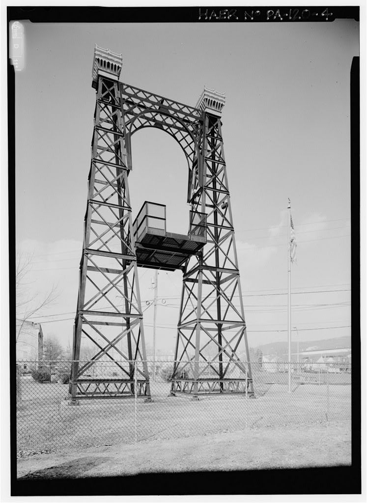 Philadelphia & Reading Railroad, Pedestrian Suspension Bridge, Foot of Sixth Street at Schuylkill River (formerly spanned Philadelphia & Reading main line at Reading Depot), Reading, Berks County, PA