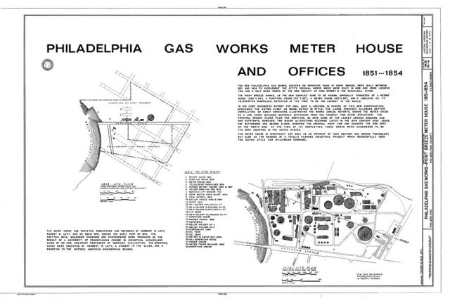 Philadelphia Gas Works Point Breeze Meter House Intersection Of