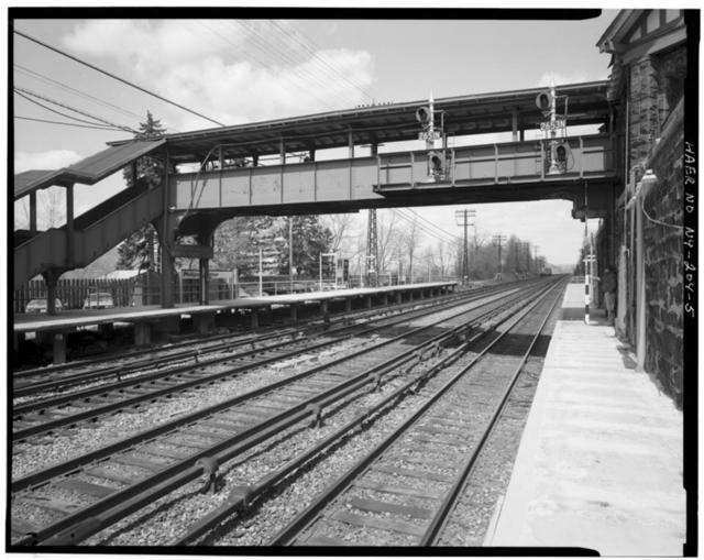Philipse Manor Station, Pedestrian Bridge, Spanning Conrail, West of Riverside Drive, at Station, Mount Pleasant, Westchester County, NY