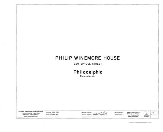 Phillip Winemore House, 220 Spruce Street, Philadelphia, Philadelphia County, PA