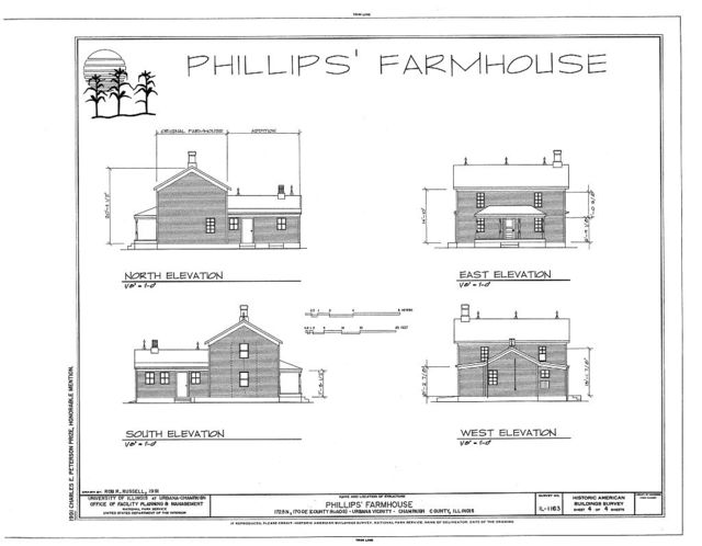 Phillips Farmhouse, 1725 North & 1700 East (country roads), Urbana, Champaign County, IL
