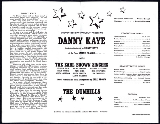 Phoenix Star Theatre, Buster Bonoff Proudly Presents, Danny Kaye