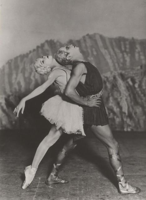 Photograph of Alexandra Danilova and Serge Lifar in Apollon Musagete, n.d.