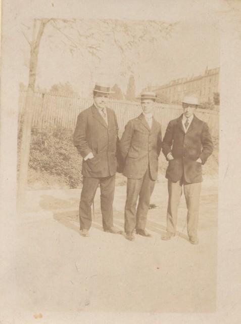 Photograph of Diahilev, Nijinsky, Stravinsky, n.d.
