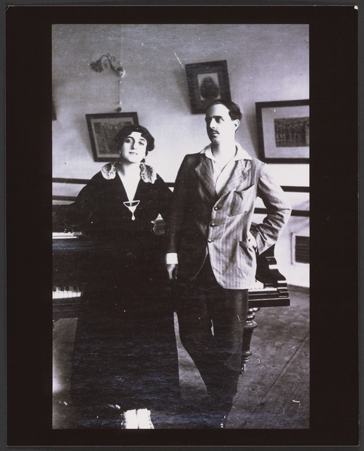 Photograph of Michel Fokine and Vera Fokine, c. 1912, no photographer