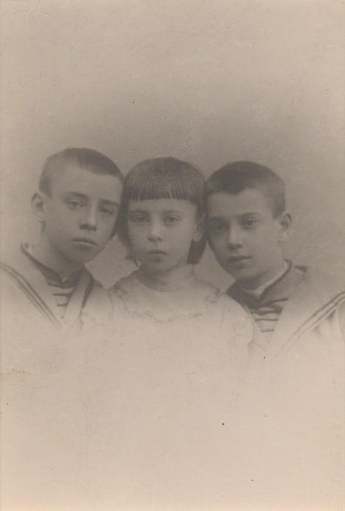 Photograph of Nijinsky children, Vaslav, Bronislava, Stanislav
