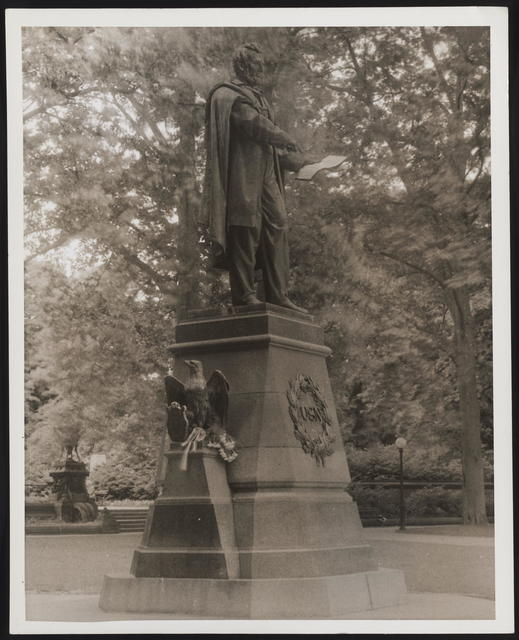 """[Photograph of sculpture """"The Emancipator,"""" bronze by Brown.]"""