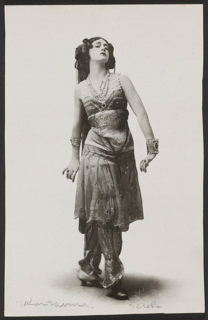 Photograph of Tamara Karsavina in Schéhérazade, n.d., no photographer