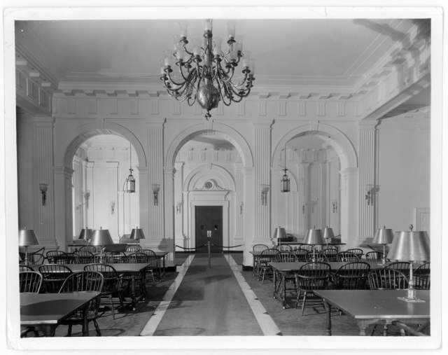 Photograph of the Library of Congress Rare Book Room, undated