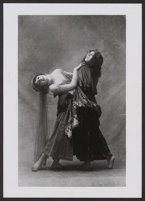 Photograph of Vera Fokina and Bronislava Nijinska in Narcisse, 1911, no photographer