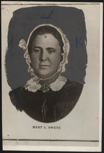 [Photographic reproduction of Mary S. Owens.]