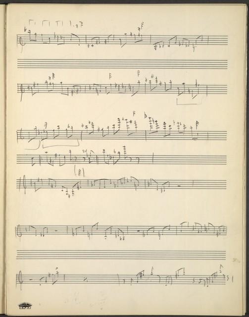 Piano quartet [complete pencil sketch]