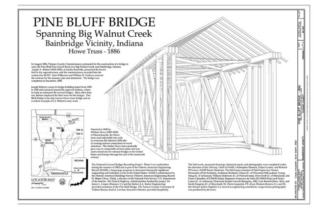 Pine Bluff Bridge, Spanning Big Walnut Creek, CR 950N, Bainbridge, Putnam County, IN
