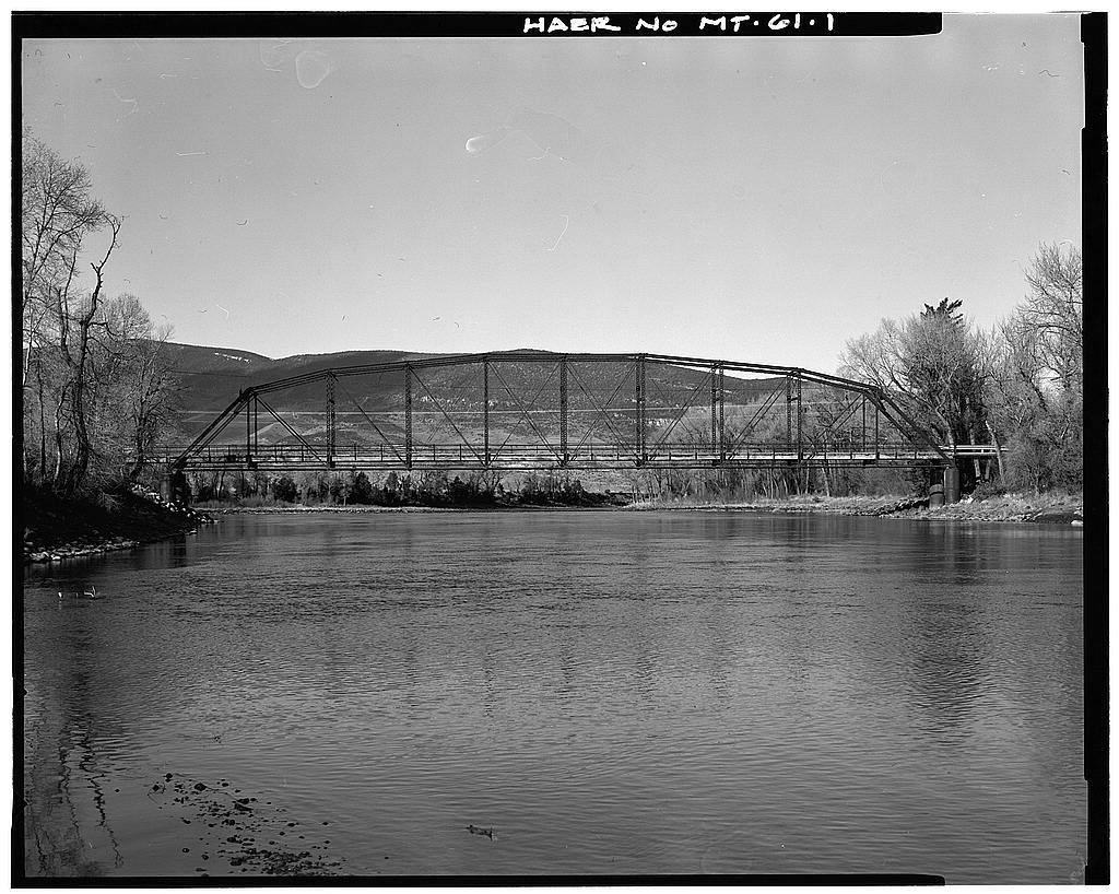 Pine Creek Bridge, Spanning Yellowstone River 10 miles South of Livingston, Livingston, Park County, MT